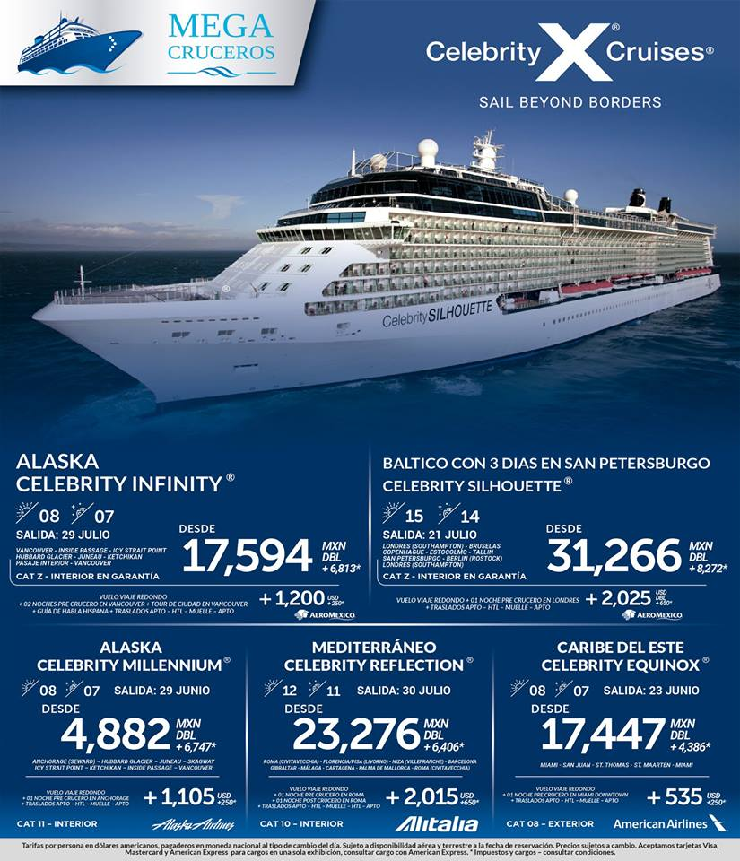 Celebrity Cruises Todo Incluido 2018 desde México