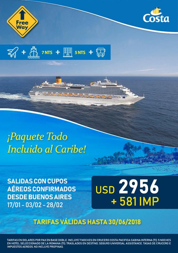 Crucero por El Caribe Vuelos Incluidos desde Buenos Aires