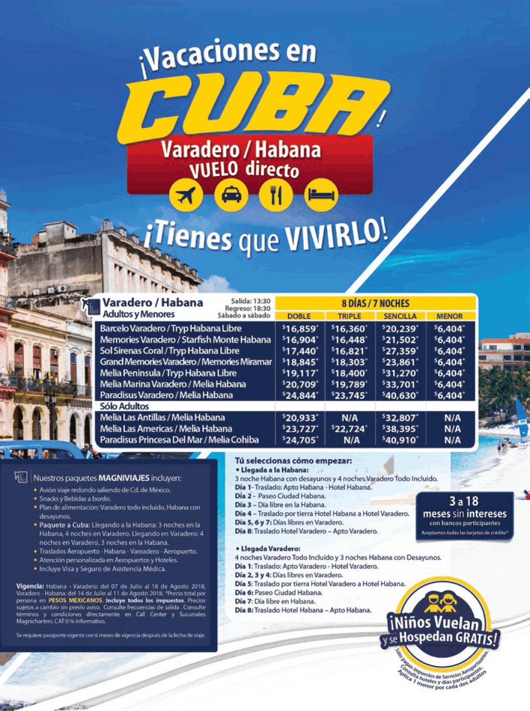 Cuba Habana y Varadero Todo Incluido