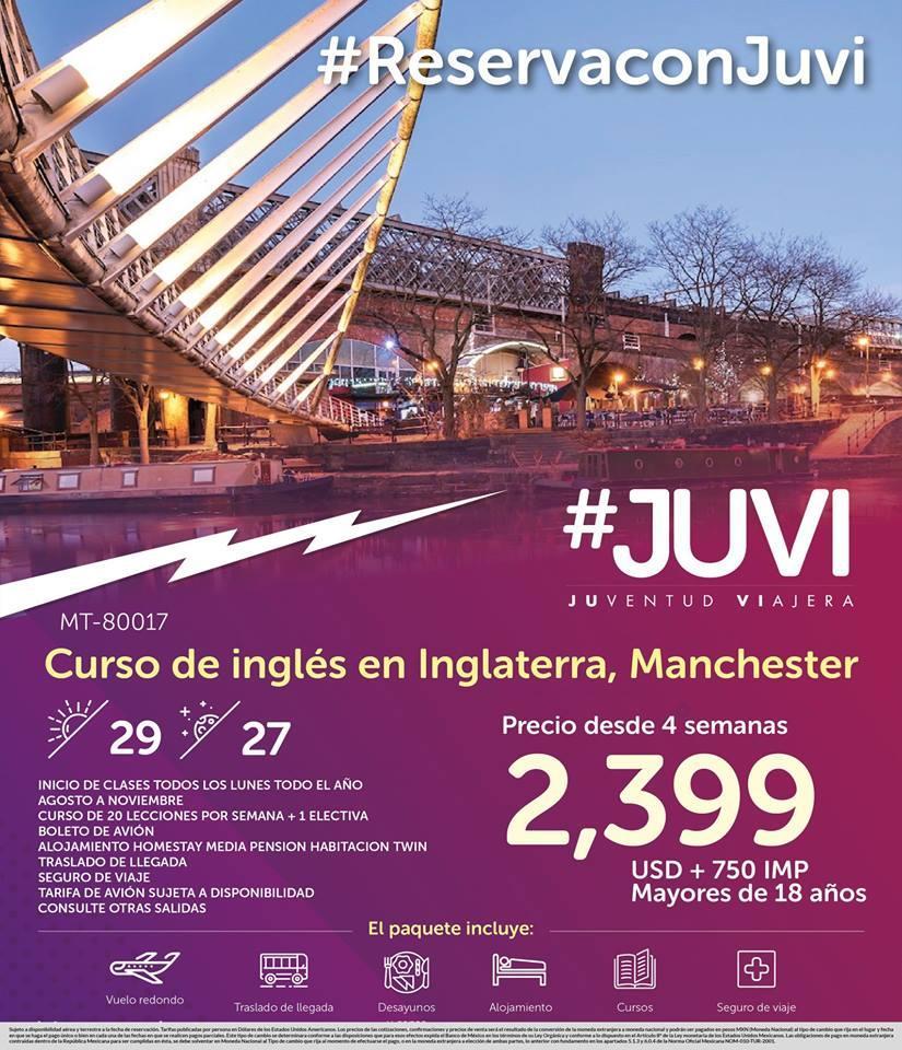 Curso de Inglés en Inglaterra Manchester desde México