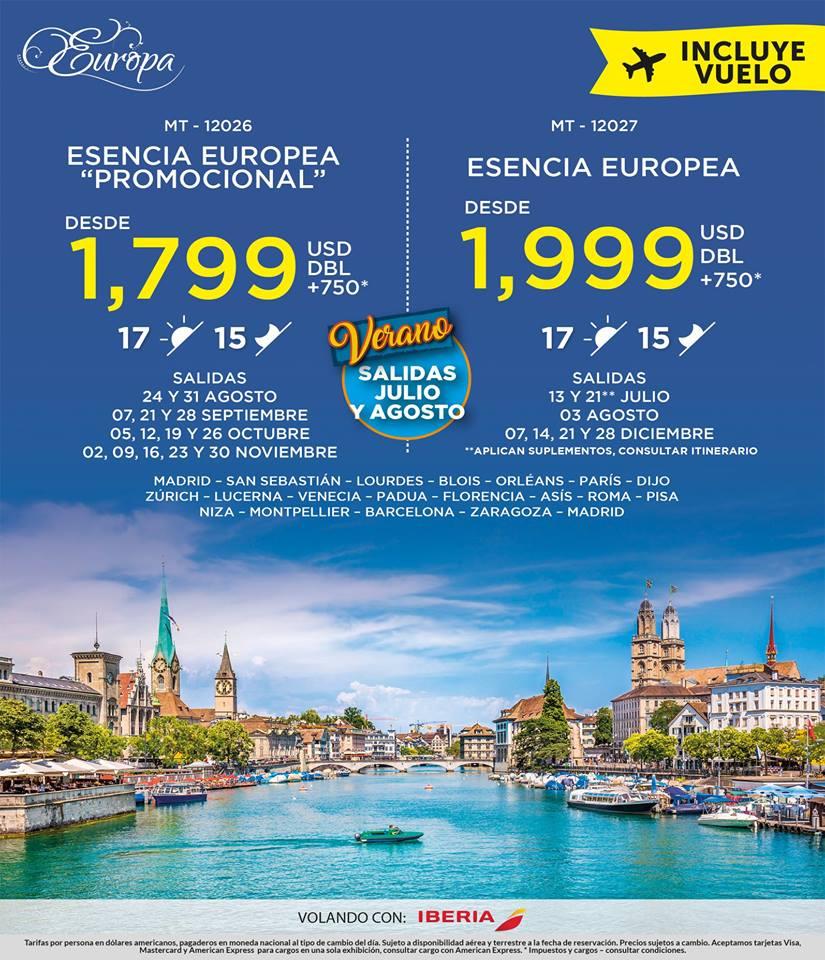 Esencia Europea 2,549 USD Todo Incluido desde México