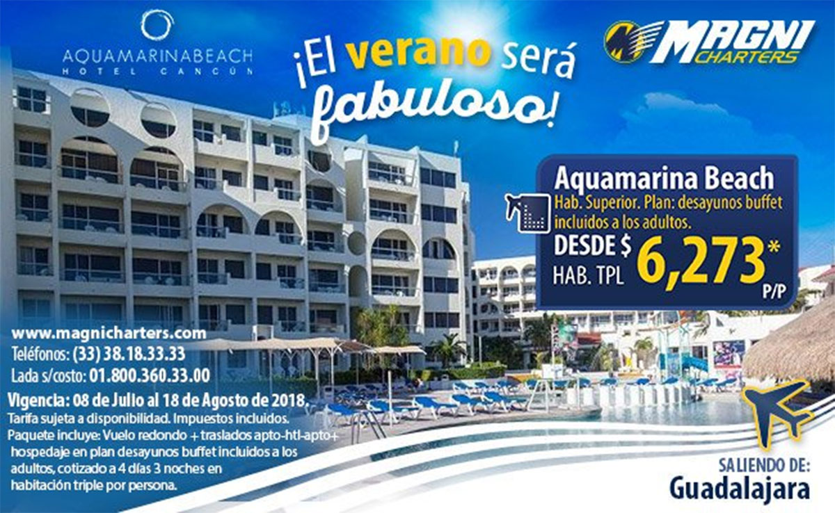 Magnicharters Promocion Aquamarina Beach Cancún
