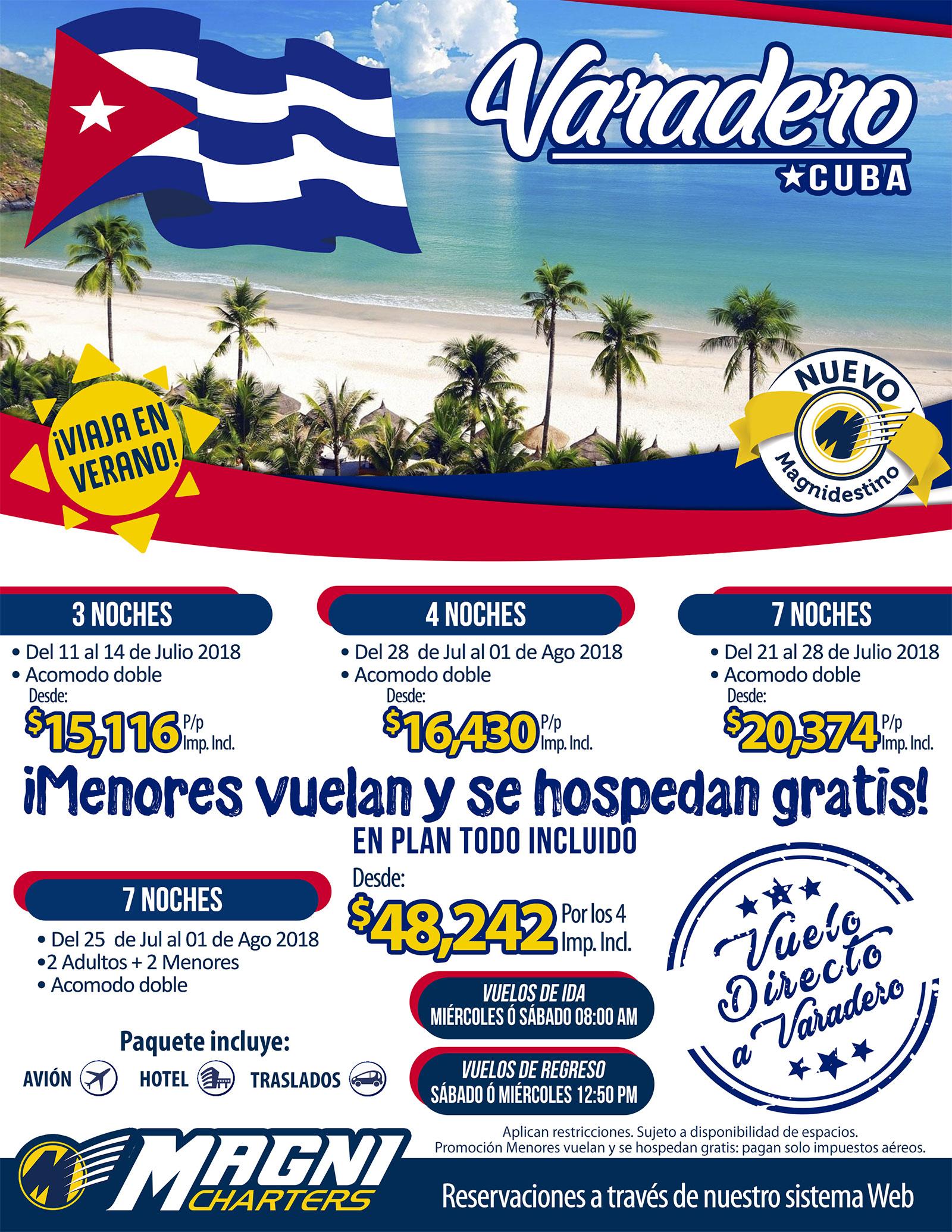 Magnicharters Verano 2018 Paquetes a Cuba desde Monterrey