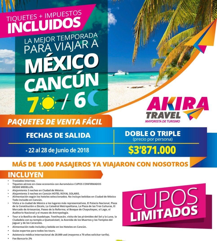 Paquete a Cancún México desde Medellín Colombia