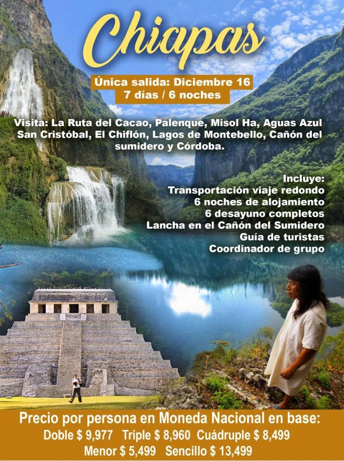 Paquete a Chiapas Fin de Año 2018
