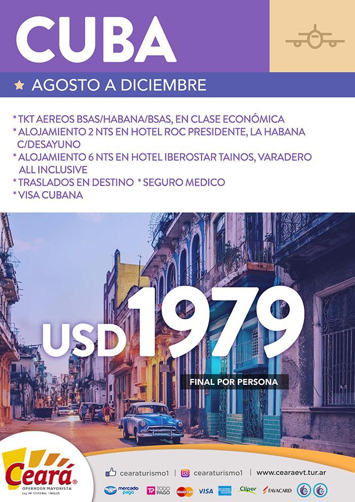 Paquete a Cuba desde Buenos Aires