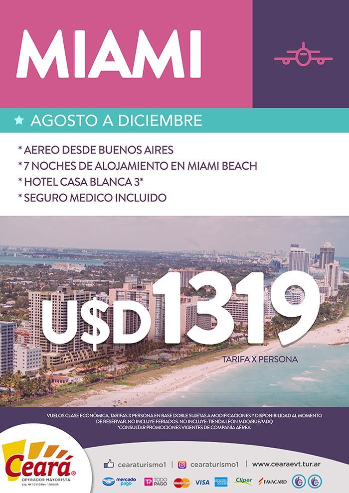Paquete a Miami desde Buenos Aires