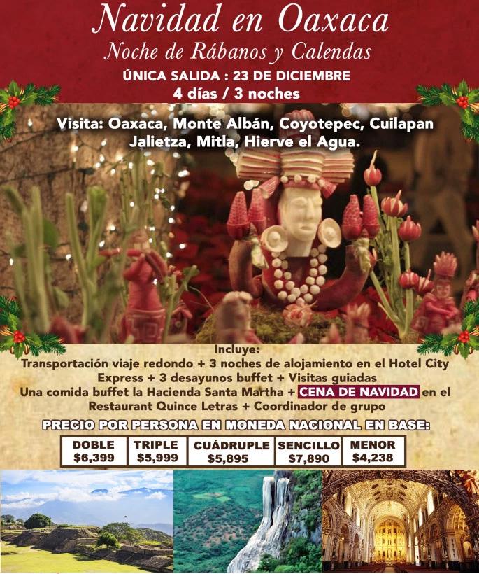 Paquete a Oaxaca Navidad 2018