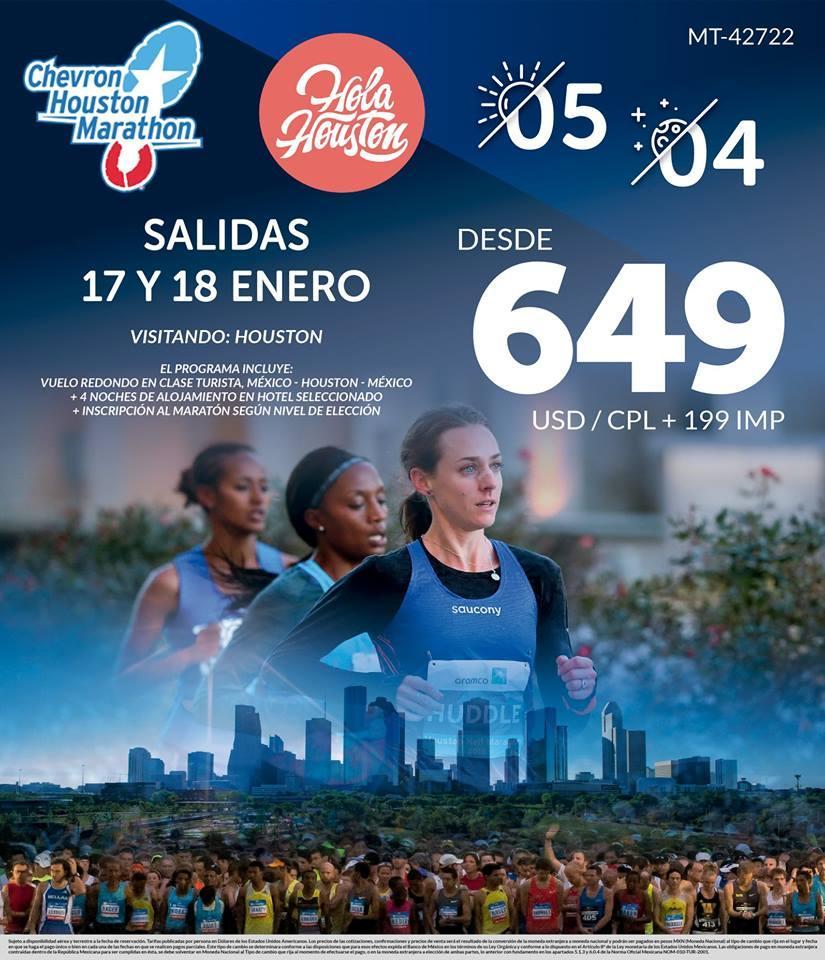 Paquete para Chevron Houston Marathon desde México