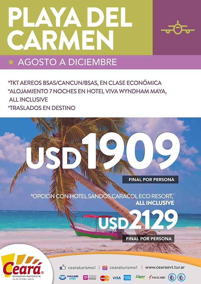 Paquete a Playa del Carmen desde Buenos Aires
