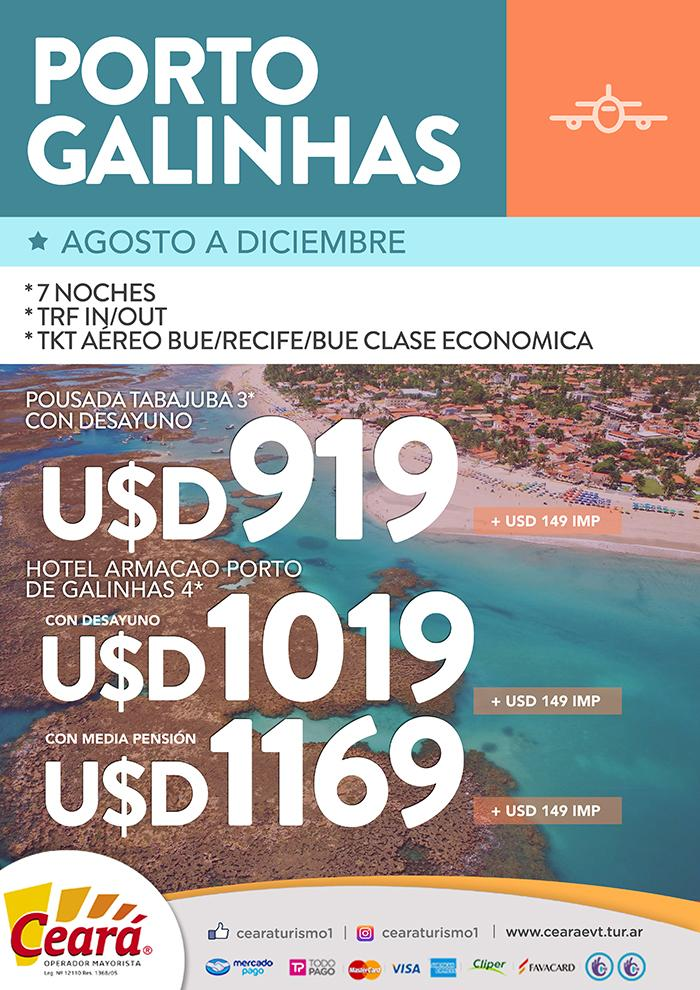 Paquete a Puerto Galinhas desde Buenos Aires