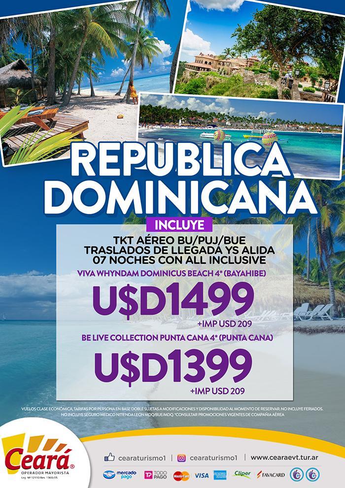 Paquete a Republica Dominicana desde Buenos Aires