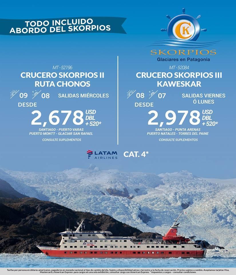 Paquete Todo Incluido Crucero Skorpis Vuelos Incluidos