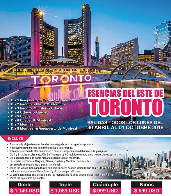 Paquetes a Canadá del Este Todo Incluido desde Guadalajara