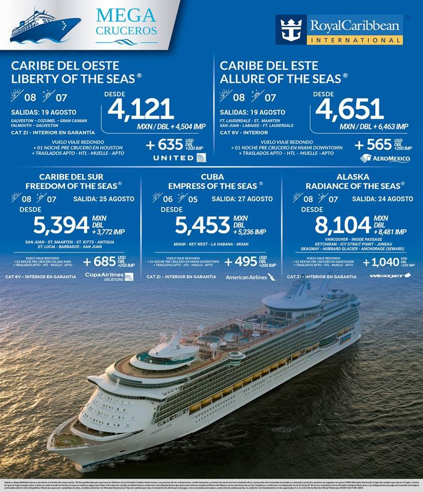 Paquetes Crucero Royal Caribbean Vuelos desde México