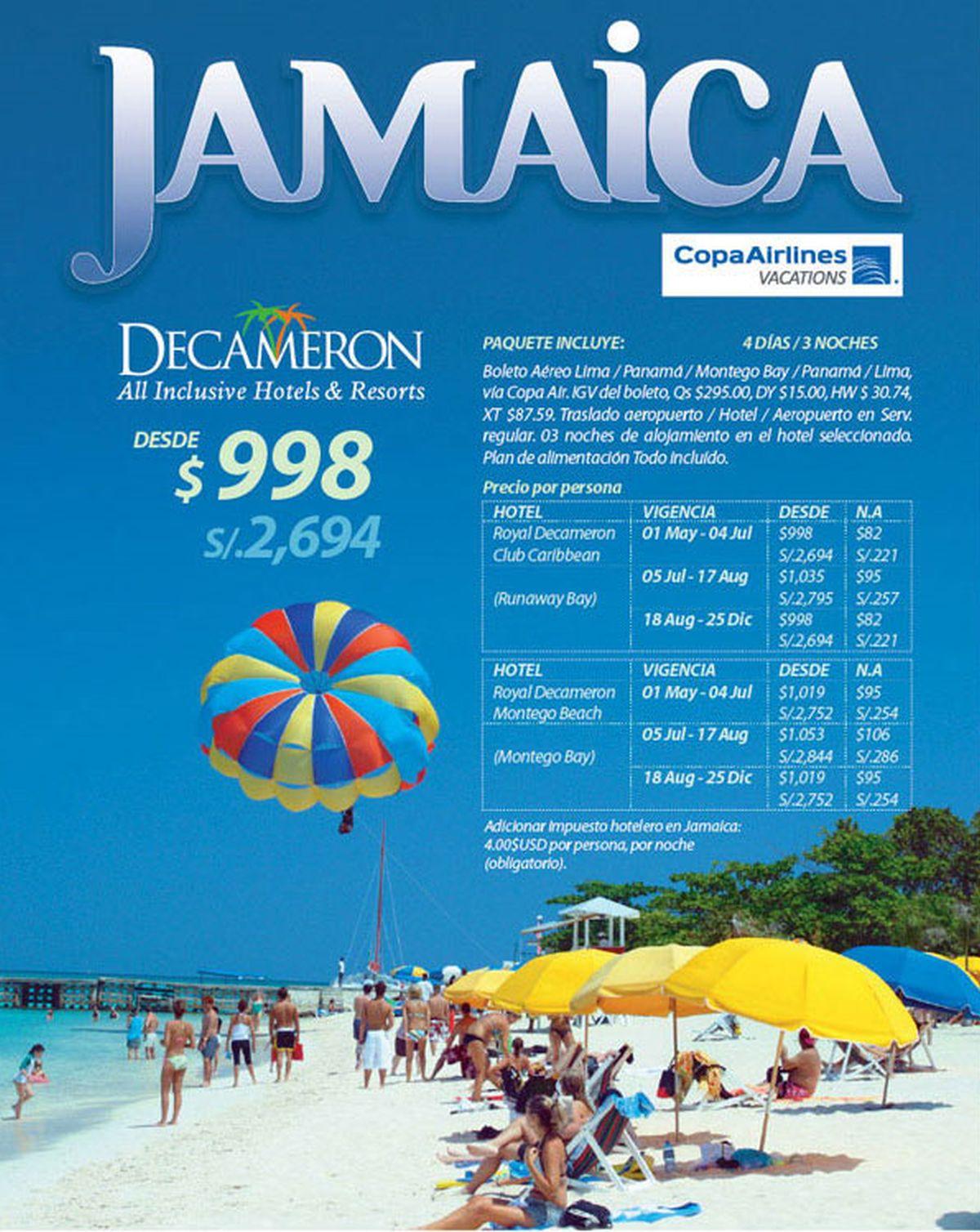 Paquetes a Jamaica desde Lima Perú