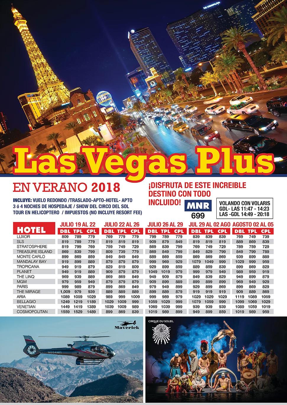 Paquetes a Las Vegas Todo Incluido desde Guadalajara