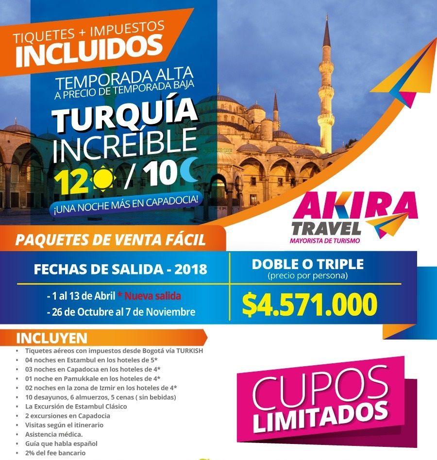 Plan Todo Incluido Turquía desde Bogotá Colombia
