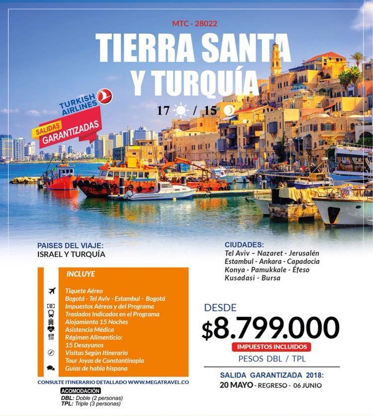Tierra Santa y Turquía desde Colombia Tiquetes Incluidos