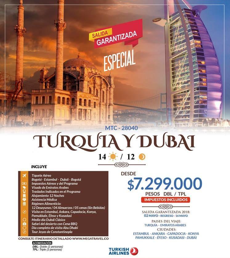 Turquía y Dubái desde Colombia