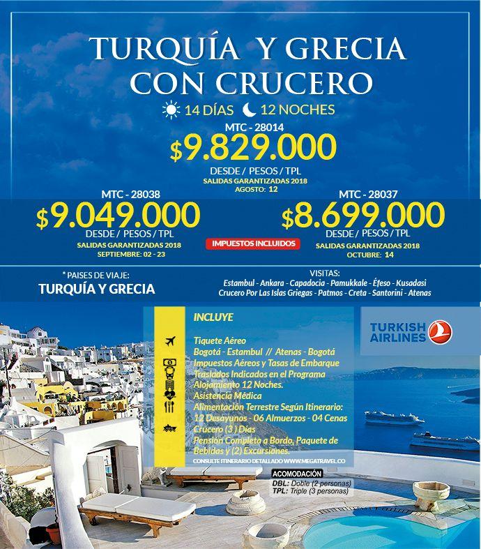 Turquía y Grecia con Crucero desde Colombia