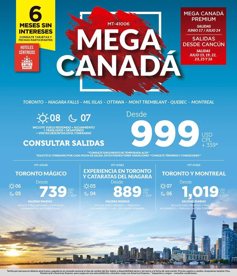 Viaje a Canadá desde México Todo Incluido