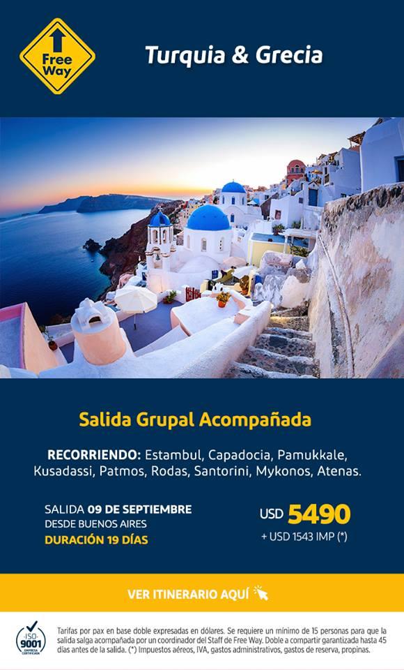 Viaje a Grecia y Turquía Todo Incluido desde Argentina 09 Septiembre 2