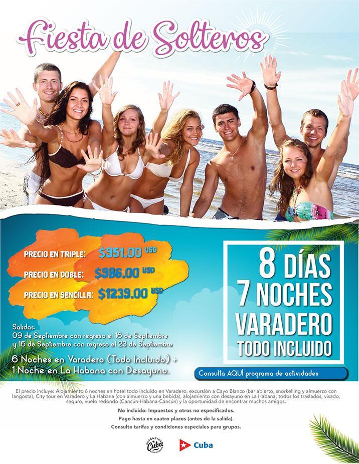 Viaje para Solteros 2018 Habana y Varadero Todo Incluido desde México