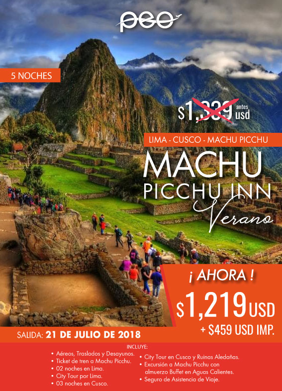 Viaje a Perú Machu Picchu Todo incluido