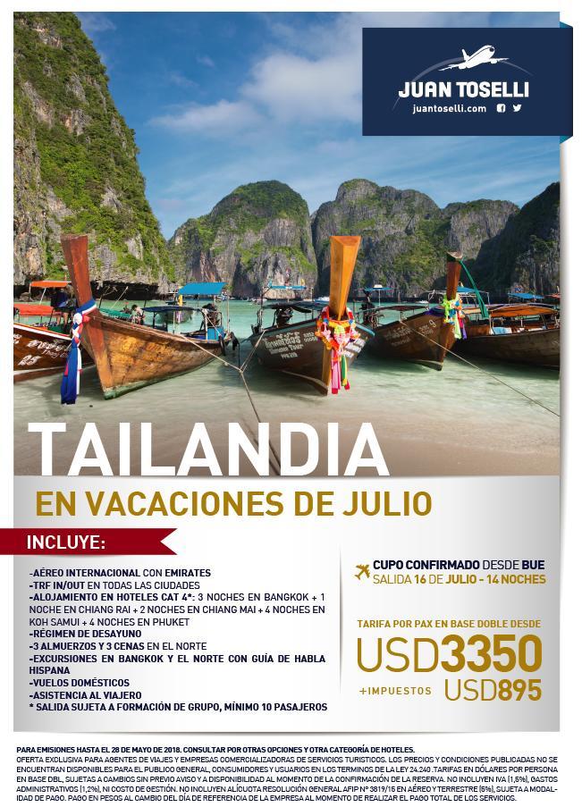 Viaje a Tailandia Todo Incluido desde Argentina