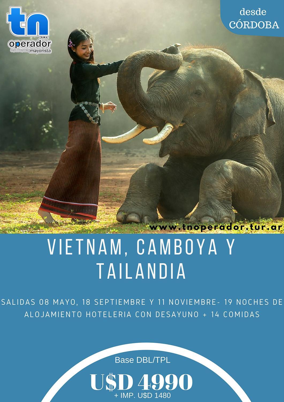 Viaje a Vietnam Camboya y Tailandia desde Córdoba