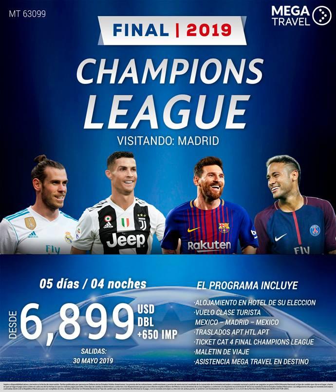 Champions League Final 2019 Viaje desde México