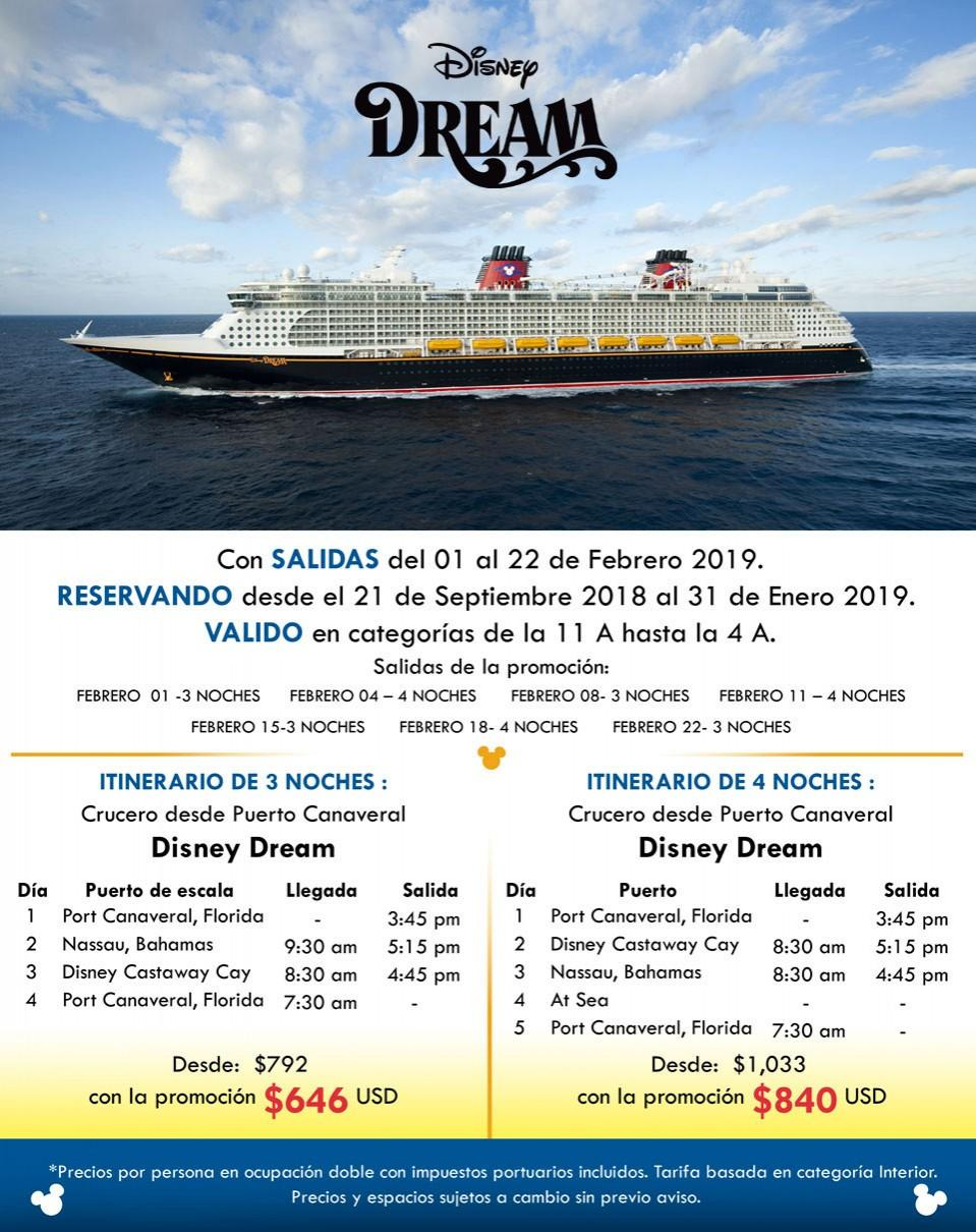 Disney Dream desde Puerto de Canaveral