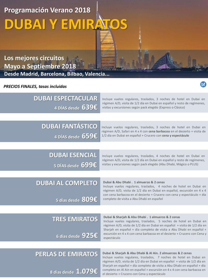 Dubái y Emiratos desde Madrid, Barcelona, Bilbao, Valencia