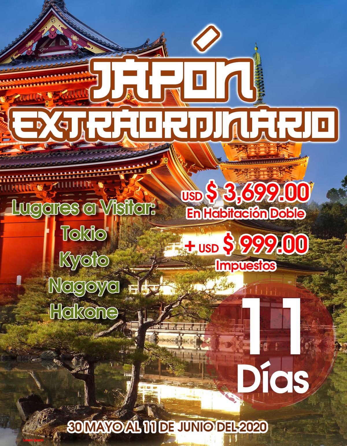 JAPÓN EXTRAORDINARIO 11 DÍAS Viaje Todo Incluido desde México