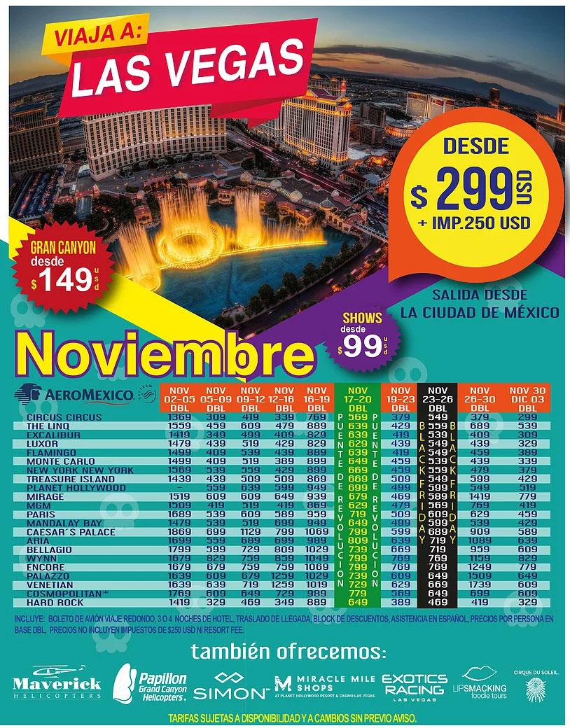 Las Vegas Todo Incluido desde Guadalajara Noviembre
