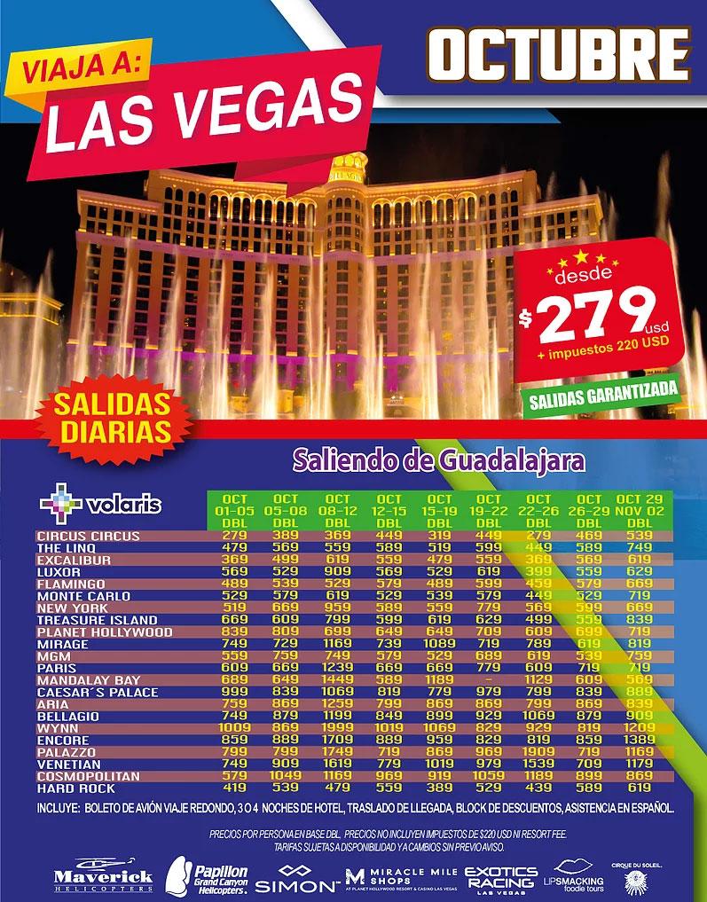 Las Vegas Todo Incluido desde Guadalajara Octubre