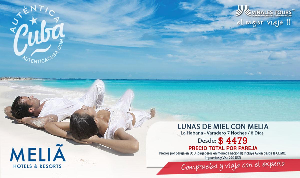 Luna de Miel en Meliá Habana y Varadero Cuba