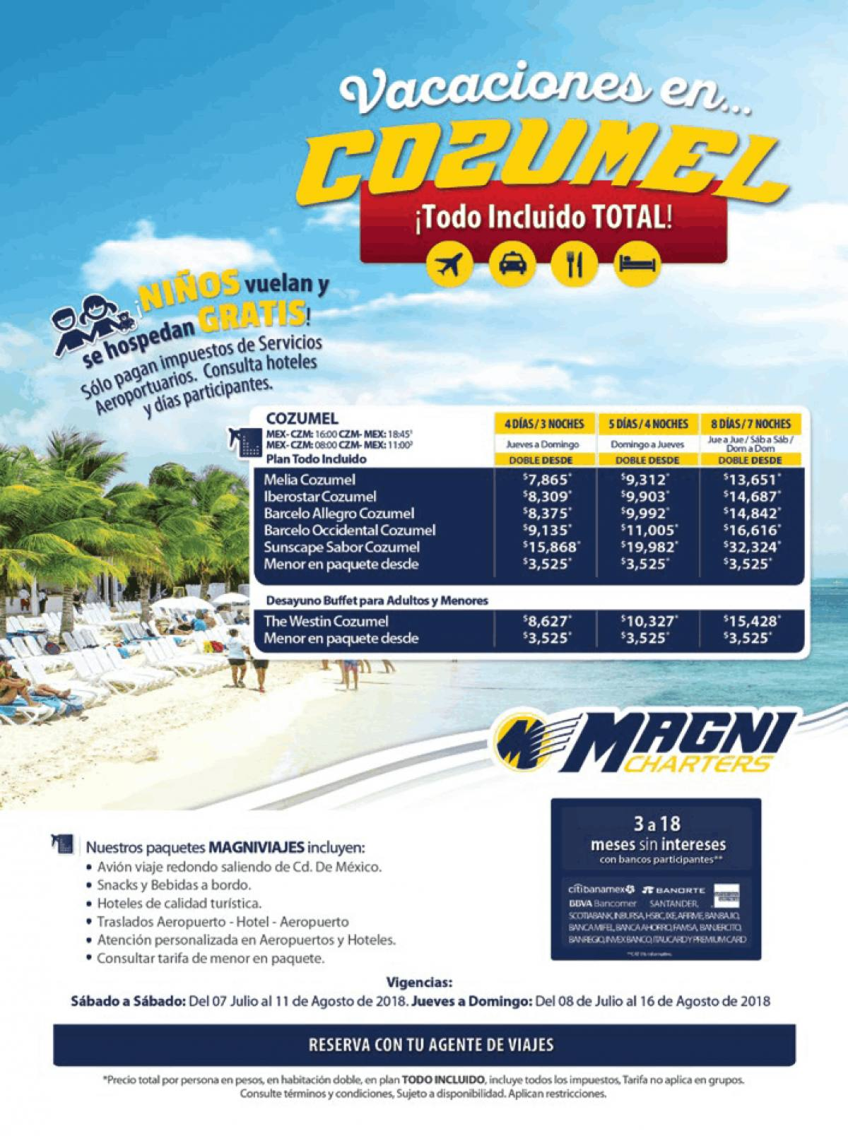 Magnicharters Outlet 2018 Paquetes a Cozumel desde México
