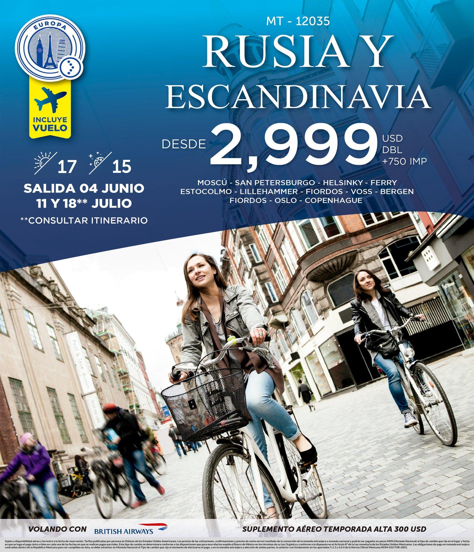 Mejores Ofertas a Rusia Y Escandinavia Vuelos Incluidos