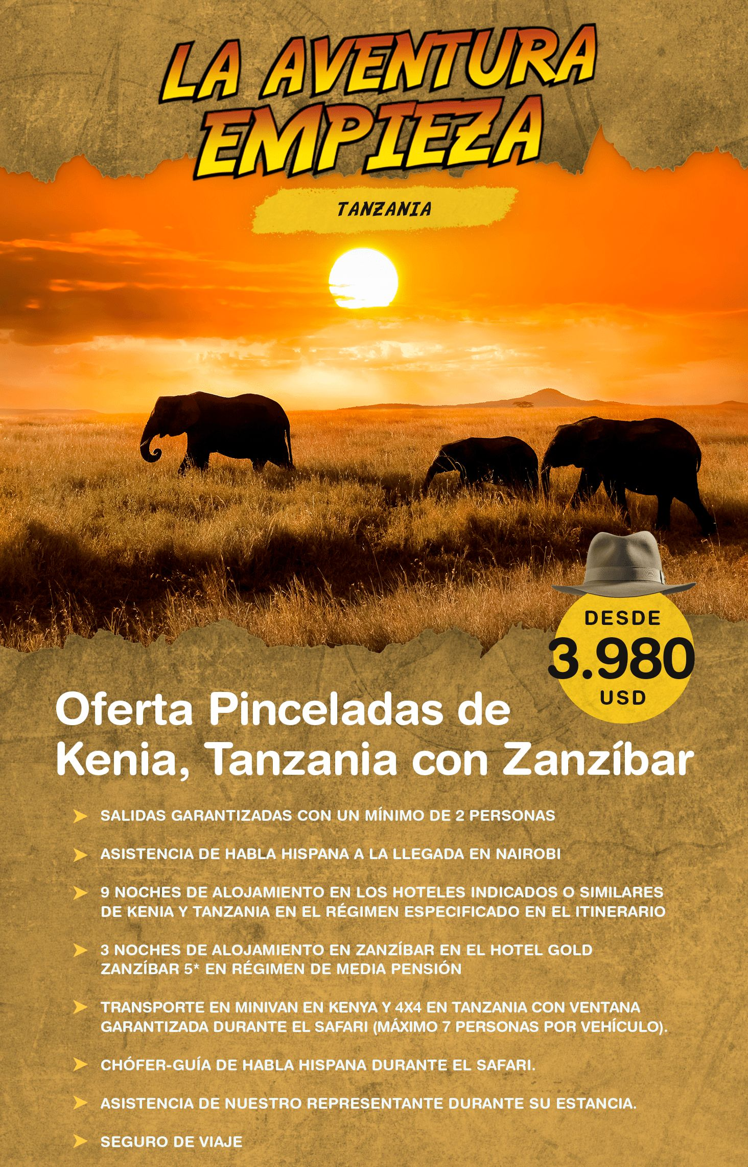 Oferta Kenia Tanzania y Zanzibar
