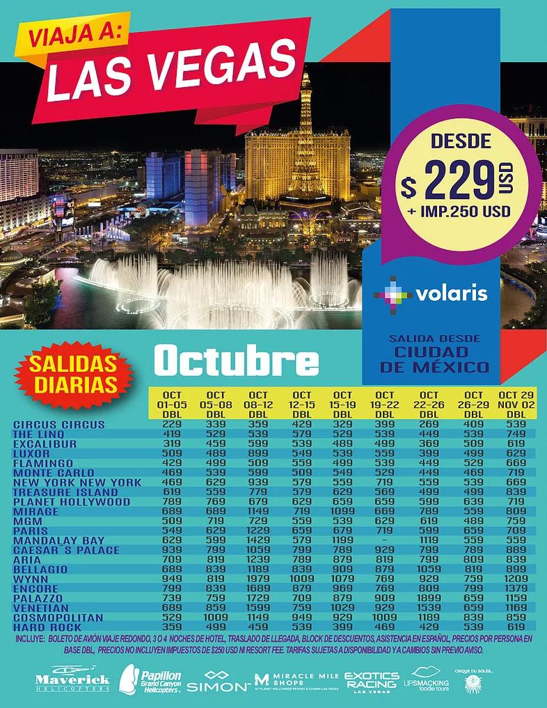 Ofertas Turisticas Las Vegas Octubre