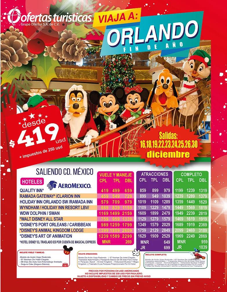 Ofertas Turisticas Orlando Fin de Año