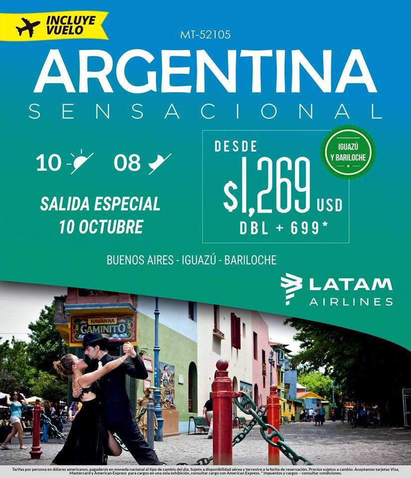 Paquete a Argentina Todo Incluido Vuelos desde México