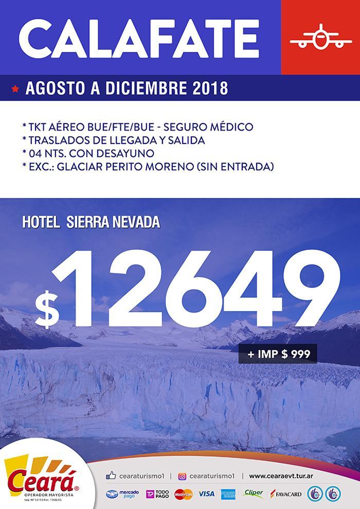 Paquete a Calafate desde Buenos Aires Agosto a Diciembre 2018