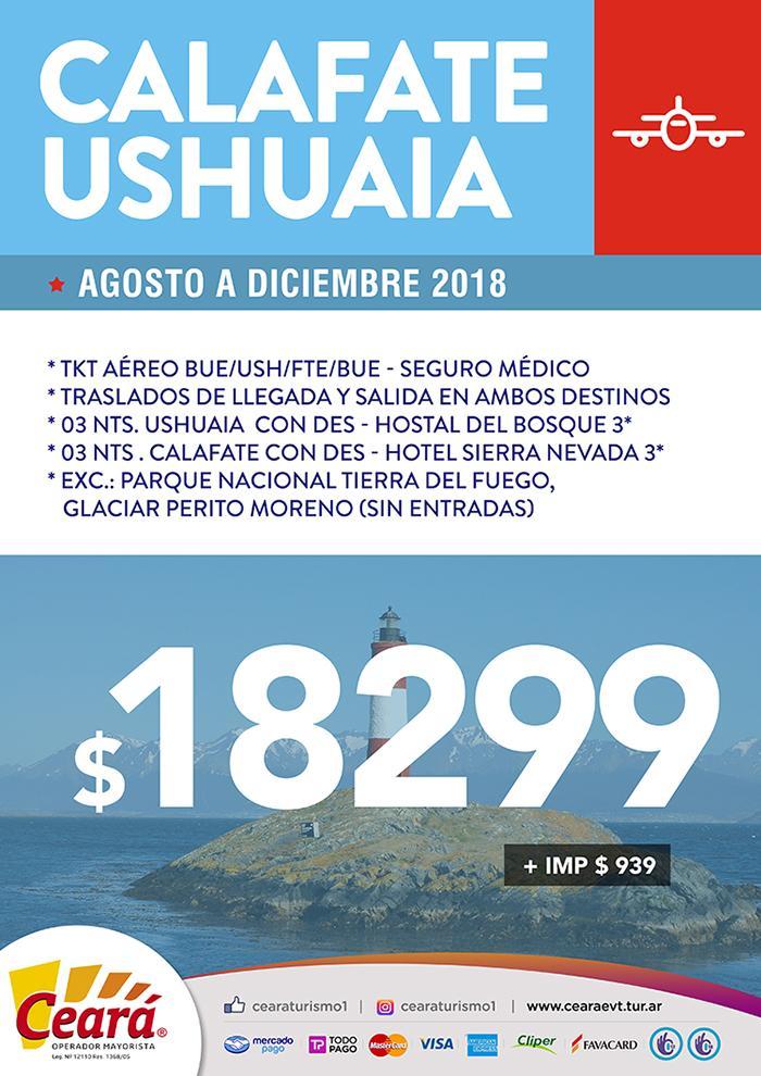 Paquete a Calafate Ushuaia desde Buenos Aires