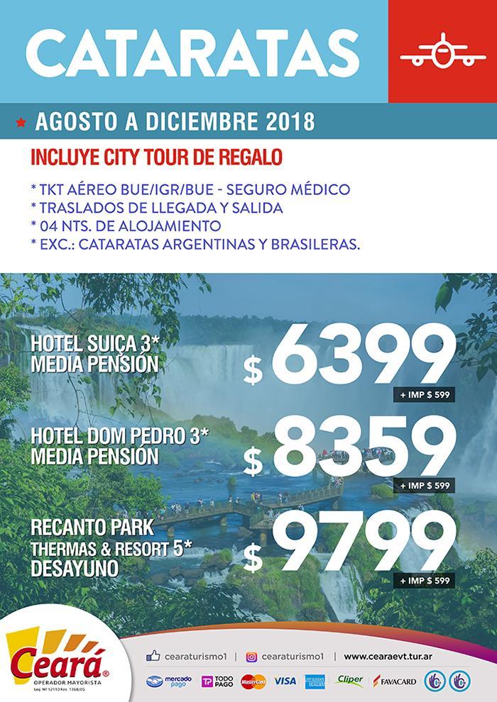 Paquete a Cataratas desde Buenos Aires Septiembre a Diciembre 2018