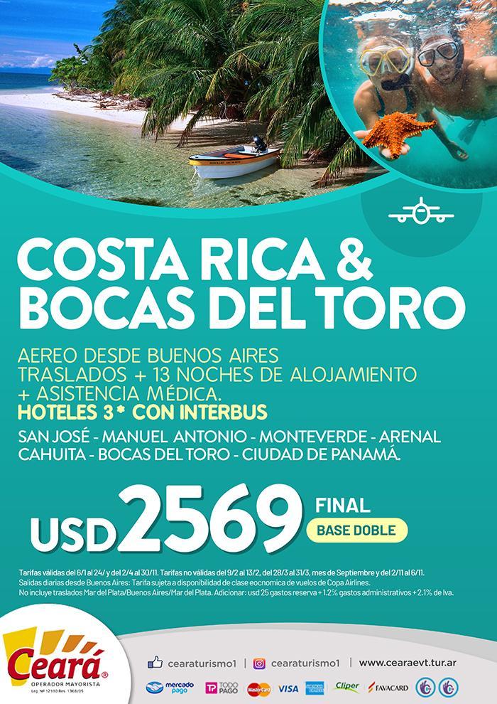 Paquete a Costa Rica desde Buenos Aires