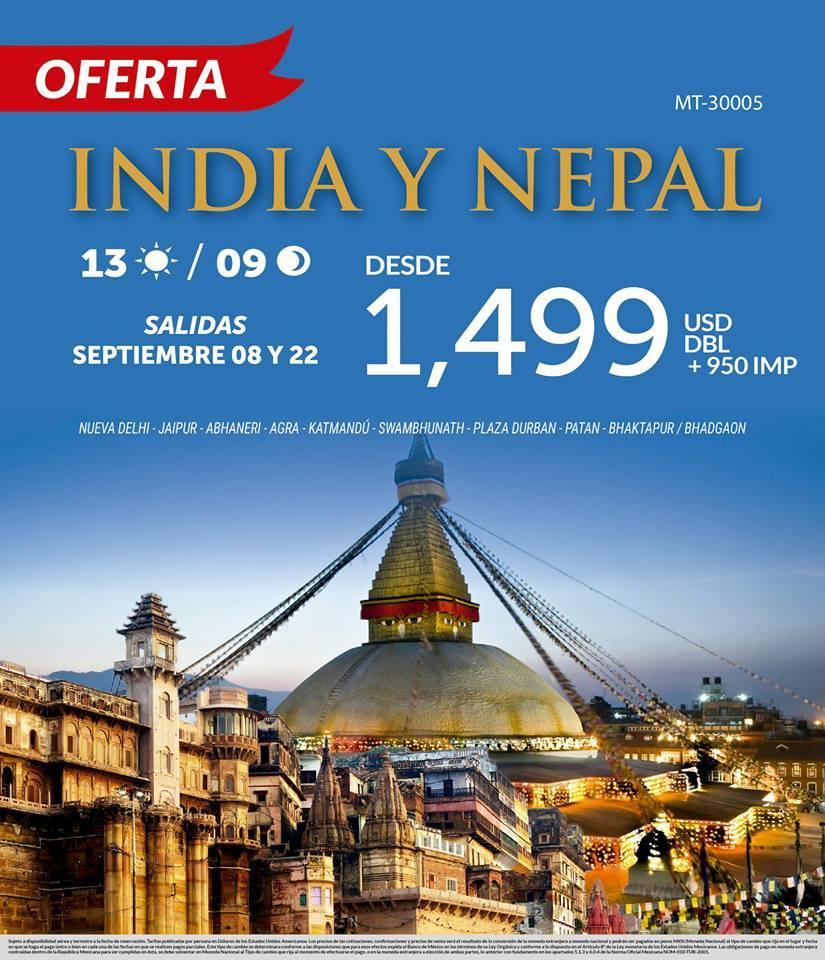 Paquete a India y Nepal Todo Incluido Vuelos desde México