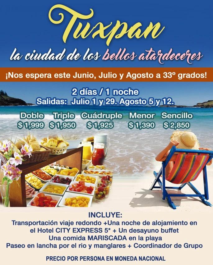 Paquete a Playa Tuxpan Veracruz Verano